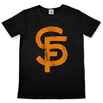 Hank Player 'S.F. (San Francisco) Brush Logo' Kid's T-Shirt (4T, Black)
