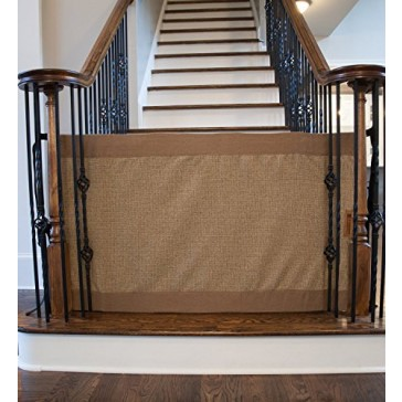The Stair Barrier Banister to Banister Gate, Mocha, Wide