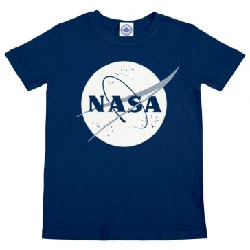 Hank Player 'NASA Halftone Logo' Kid's T-Shirt (6, Navy)