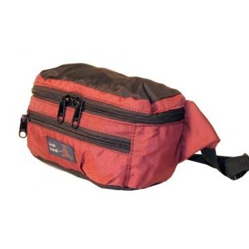 Tough Traveler Hip Pack - Made in USA Waistpack - Burgundy/Black