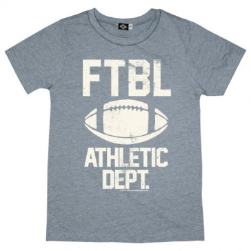 Hank Player 'Football Athletic Dept.' Kid's T-Shirt (10, Heather Grey)