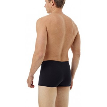 Underworks Cotton Spandex Ultra Light Compression Boxers 3-Pack, X-small Black