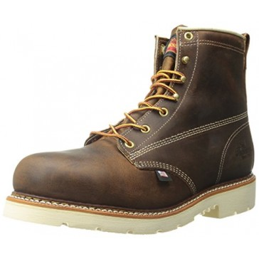 Thorogood Men's American Heritage 6 Inch Safety Toe Lace-up Boot, Brown, 8 D US