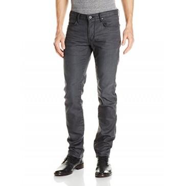 John Varvatos Star USA Men's Bowery Fit V Stitch Pocket Jeans , Graphite, 28 Regular