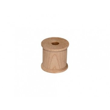 25 Wood Spools 1/2 x 1/2 Inches, Made in the USA, by My Craft Supplies