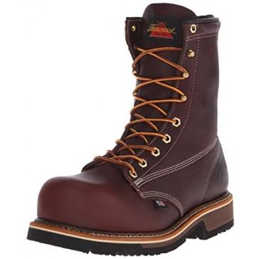 Thorogood Men's American Heritage 8 Inch Safety Toe Work Boot, Black Walnut, 7 D US