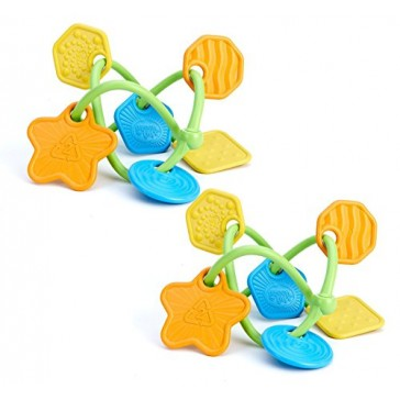 Green Toys Twist Teether Toy, Set of 2