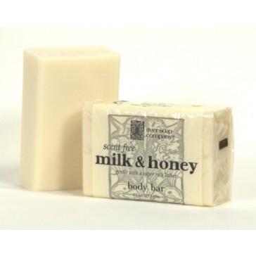 River Soap Company - Bar Soap Scent Free Milk & Honey - 4.5 oz.