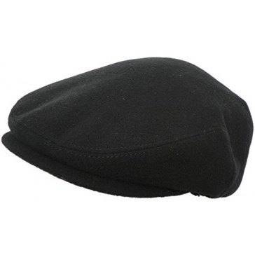 Headchange Made in USA Ear Flap Ivy Cap (XX-Large, Solid Black)