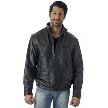 WINNERS LEATHER JACKET UNION MADE IN USA (Large, BLACK)