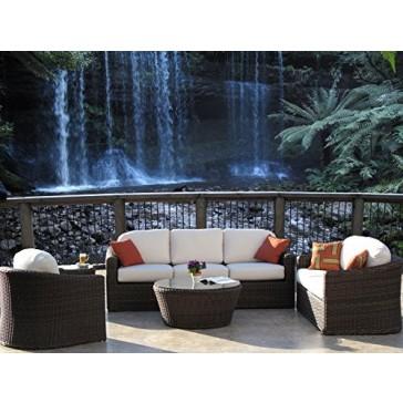 Outdoor Patio Resin Wicker Furniture Kota Sofa 5PC Set Made in USA Sunbrella Cushions Fully Assembled