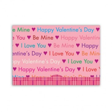 Jillson Roberts Gift Card Holders, Valentine's Day, Words of Love, 6-Count (GCP027)