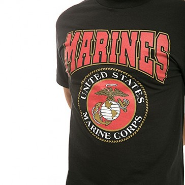 Made in USA Military Cotton Tee Shirt - Marines S