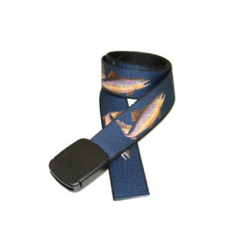 """Navy Trout"" Hiker Web Belt Made in USA by Thomas Bates"