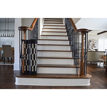 The Stair Barrier Banister to Banister Gate, Onyx, Wide