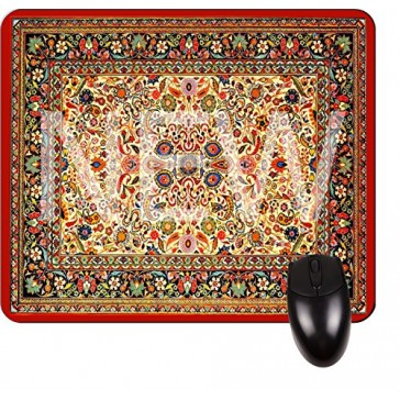 Colorful Azerbijani Style Rug-Square Mouse pad - Stylish, Durable Office Accessory Made in the USA