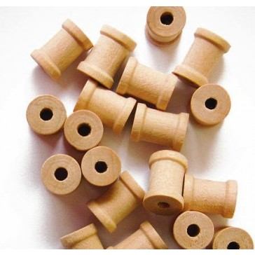 25 Tiny Wood Spools 1/2 x 3/8 Inches, Made in the USA, by My Craft Supplies