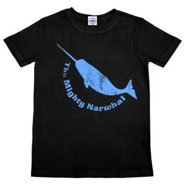 Hank Player 'Mighty Narwhal' Boy's T-Shirt (2T, Black)
