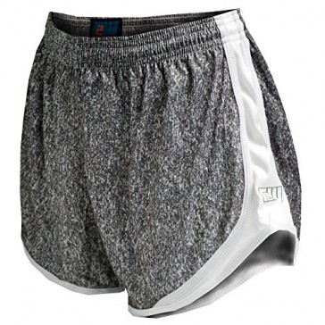 Fit 2 Win Sprinter Heather Gray and White Women's Running Shorts, XS