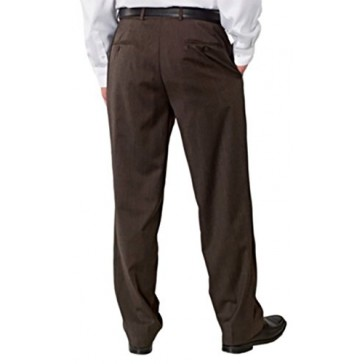 Kirkland Signature Mens Wool Flat Front Dress Pant Brown (32 x 29)