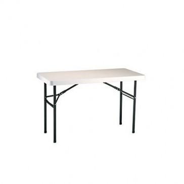 Lifetime 22959 Folding Utility Table, 4 Feet, Almond
