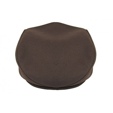 Emstate Men's 100% Wool Ivy Flat Golf Driving Cap Made in USA (2 Colors) (X-Large, Brown)