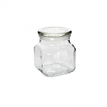 Anchor Hocking 20-Ounce Emma Jar with Glass Cover, Set of 3