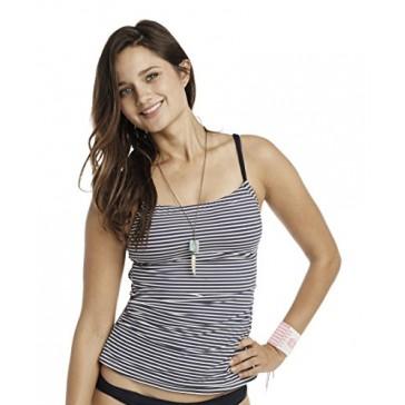 Carve Designs Women's Avalon Tankini, X-Small, Anchors Stripe