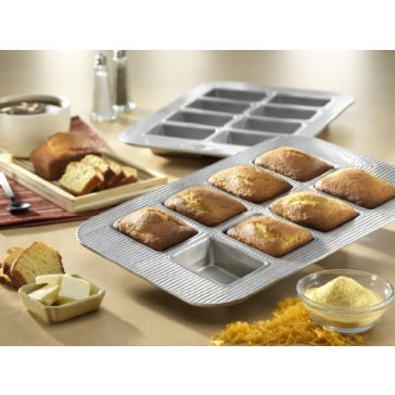USA Pan Bakeware Aluminized Steel Mini Loaf  Pan,  8-Well