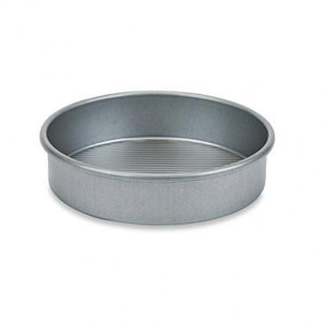 """USA PAN Round Cake Pan Set of 4 (1 8"""" Round Cake Pan, 2 9"""" Round Cake Pans, 1 10"""" Round Cake Pan)"""