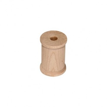 100 Unfinished Wood Spools 1 x 3/4 inch, Made in the USA, by My Craft Supplies