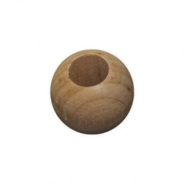 """MyCraftSupplies Set of 25 Unfinished Wood Beads 20mm 3/4"""" Size with Wide 3/8"""" Hole Made in the USA"""