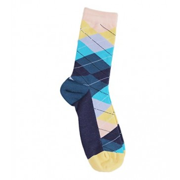 Made in USA .Men's Fashion Colorful - Combed Cotton Dress Socks Mid Calf Socks