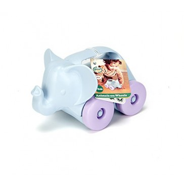 Green Toys Elephant-on-Wheels, Grey/Purple