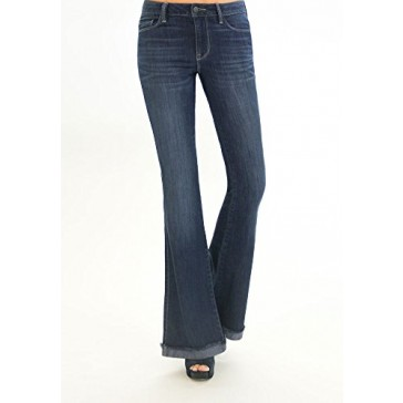 Genetic Jeans Women's Leaf Fit & Flare - Rome 24 Light Indigo