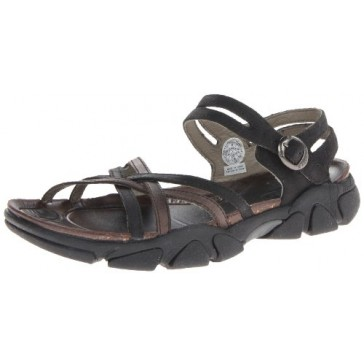 KEEN Women's Naples Sandal,Black/Gargoyle,5 M US