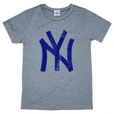 Hank Player 'N.Y. (New York) Brush Logo' Kid's T-Shirt (5, Heather Grey)