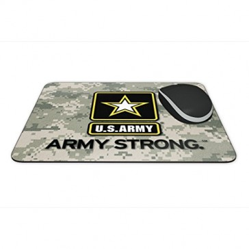 "Mouse Pad - US Army/ Army Strong Full Color Anti-Slip Rubber Backed Mousepad ""Made in USA"""