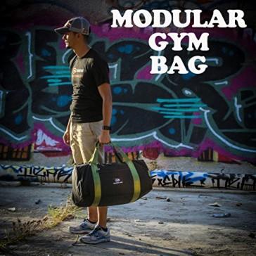 Modular Gym Bag (Black w/Olive straps)