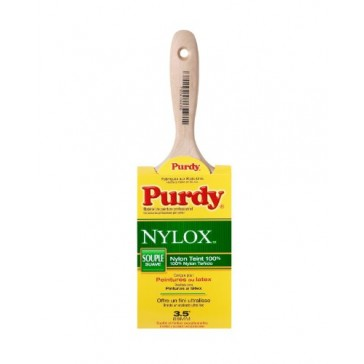 Purdy 144400235 Nylox Swan 100-Percent Nylon Beavertail Handle Paint Brush, 3-1/2-Inch