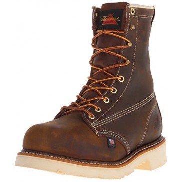 Thorogood Men's American Heritage 8 Inch Safety Toe Work Boot, Brown, 8 D US