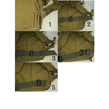 """Fire Force Backpack Waist Belt Universal Fit with Quality Military Buckles Made in USA (Camo Green, 1½"""" wide)"""