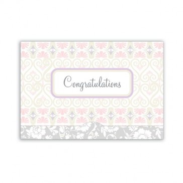 Jillson Roberts Gift Card Holders, Congratulations Brocade, 6-Count (GCP015)