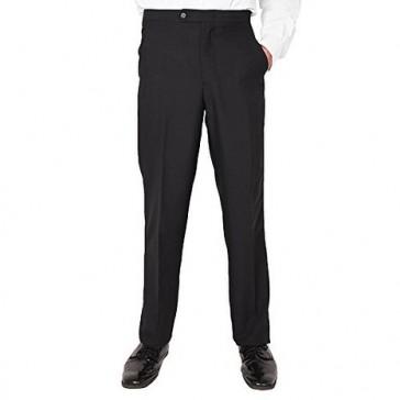 Men's Plain Front Tuxedo Pants Black (28)