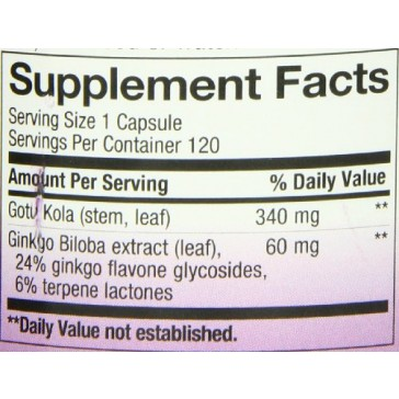Nature's Way Ginkgo, 120 Vcaps