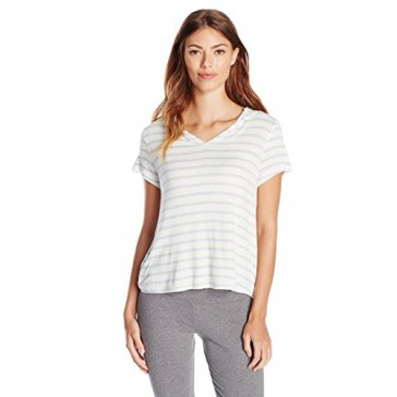 Splendid Women's Hooded Pullover, Misty Stripe, Small
