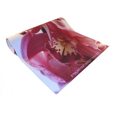 "Custom Designed ECO Yoga Mat | 100% USA Made | ECO Friendly | Non-toxic, BPA & Phthalate Free | ""Orchids In Bloom"" Design"