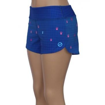 UN92 WC14 Women's Kettlebell Fit Shorts, Blue-2