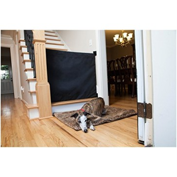 The Stair Barrier - Wall-to-Bannister Indoor/Outdoor Baby/Pet Gate - Black