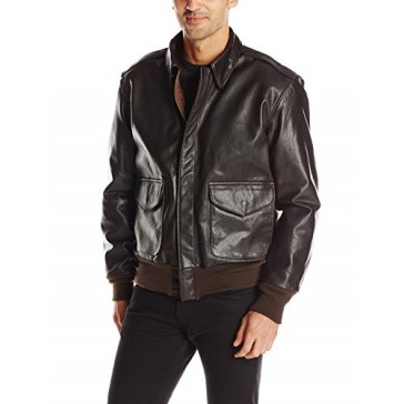 Cockpit USA Men's U.S. Air Force 21st Century A-2 Goatskin Leather Jacket, Brown, 38